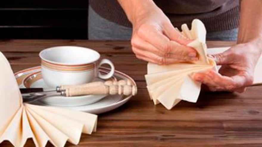 Te mostramos las formas más originales de doblar servilletas