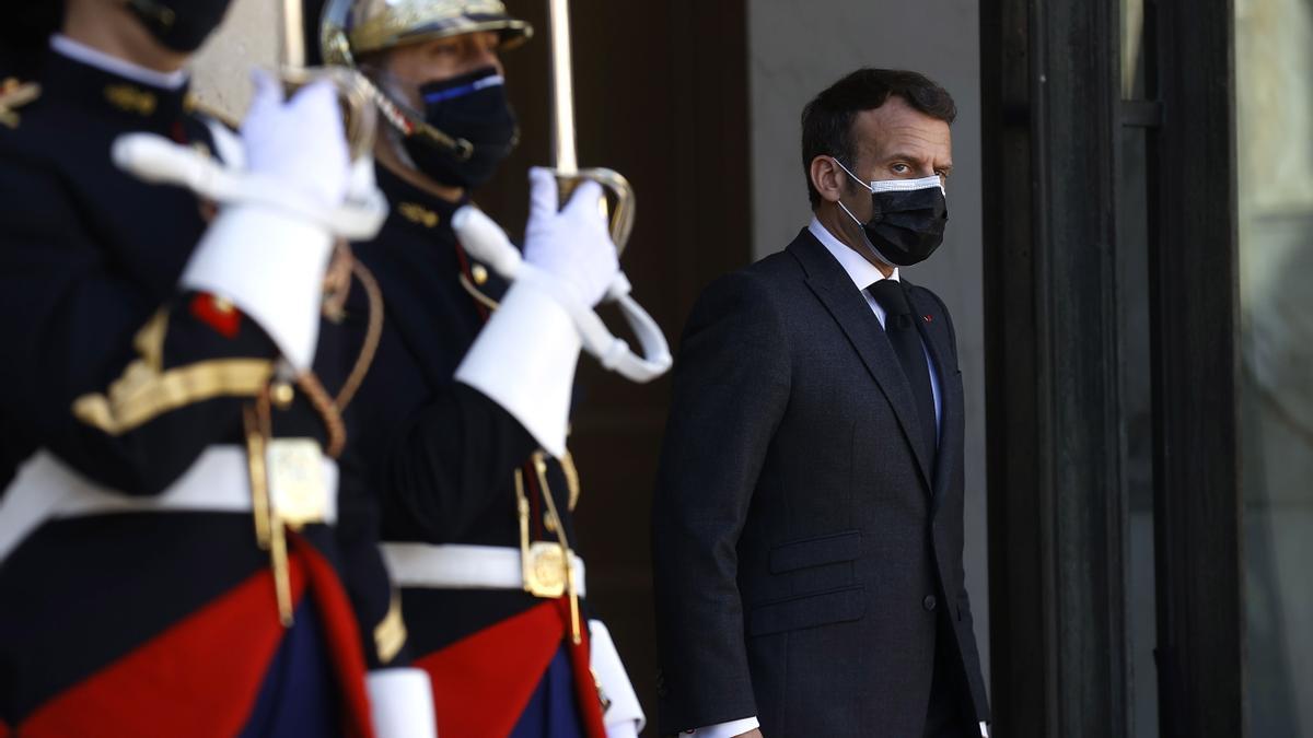 Emmanuel Macron, en el Palacio del Elíseo