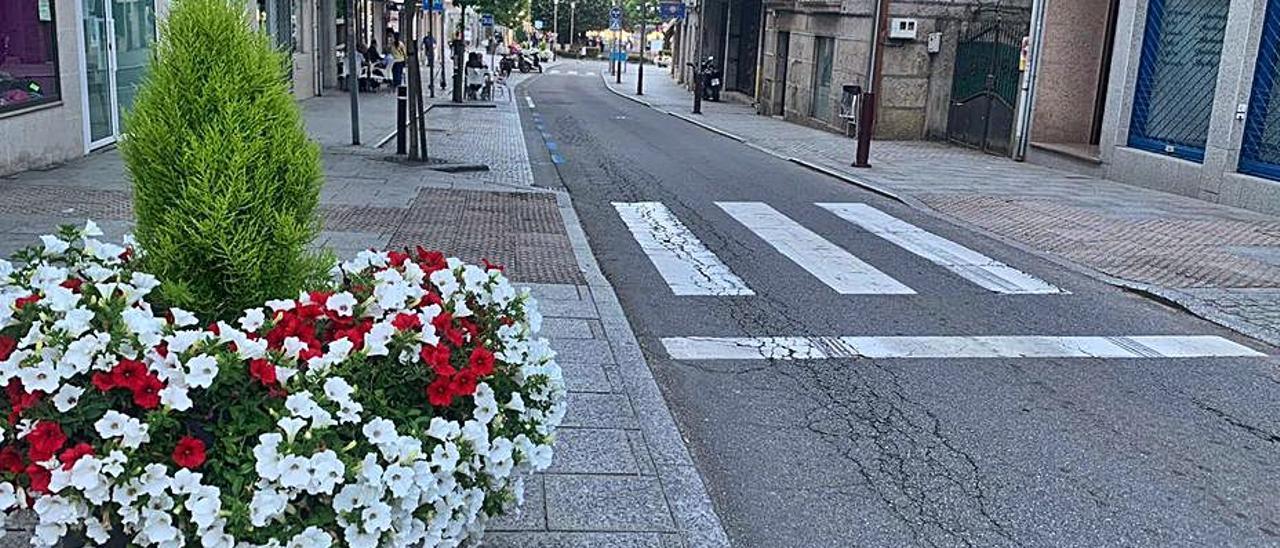 Una de las calles de Salceda de Caselas.   | // D.P.