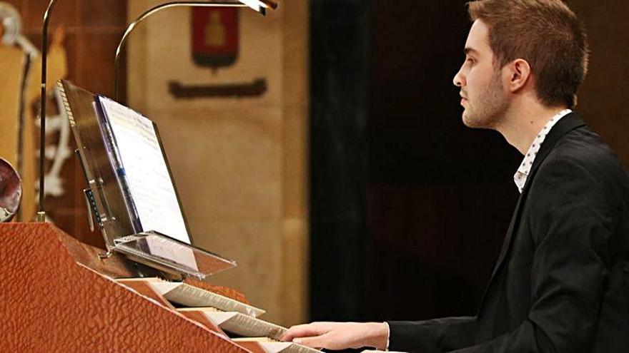 L'organista barceloní Joan Seguí actua divendres a la Casa de Cultura de Girona