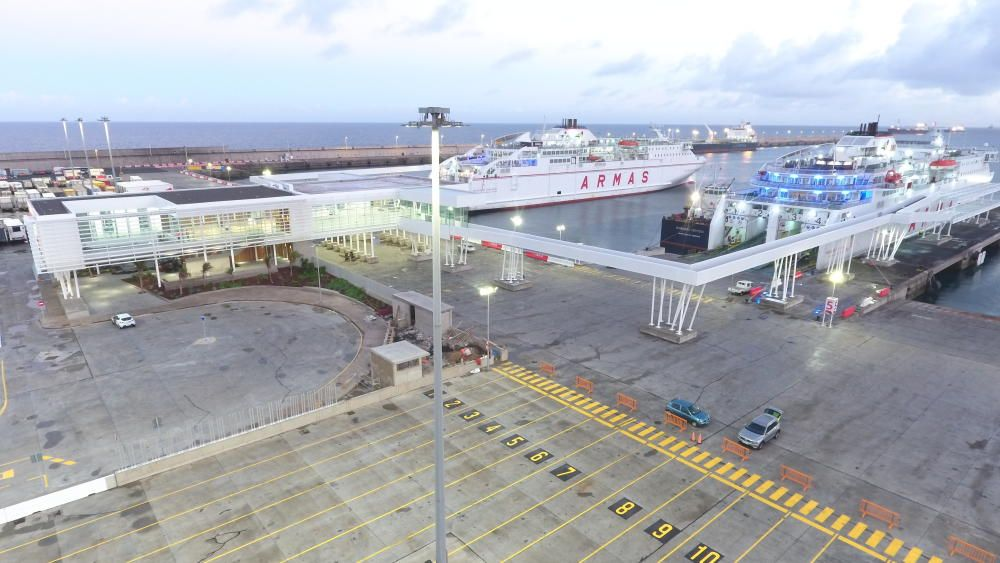 Nueva terminal del grupo Armas Trasmediterránea.