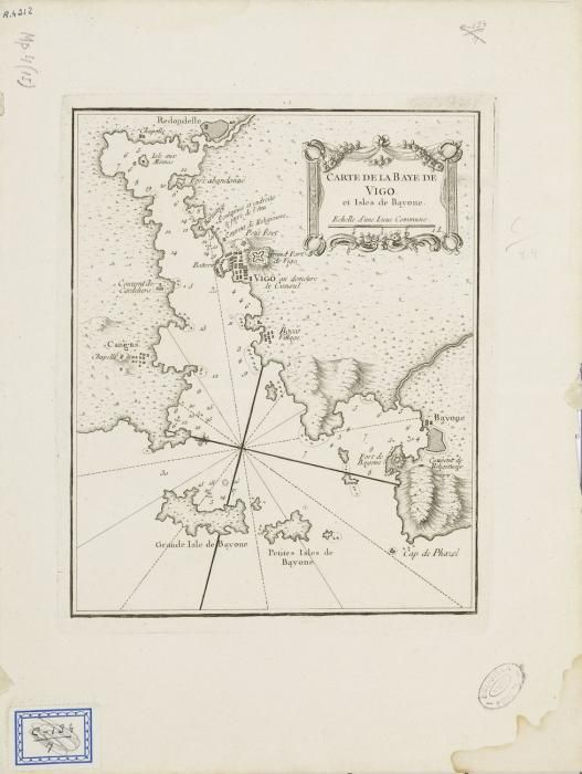 Carte de la baye de Vigo, J. N. Bellin (1764)