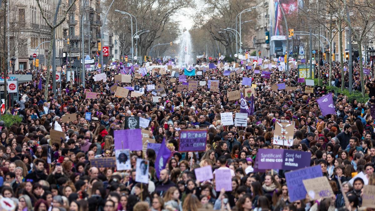 Una manifestación por el 8m