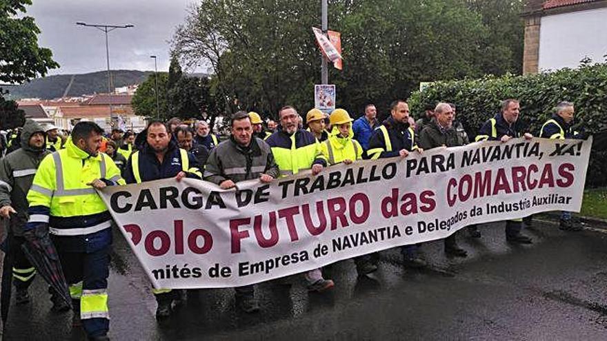 Trabajadores de Navantia vuelven a salir a la calle en Ferrol para pedir carga de trabajo