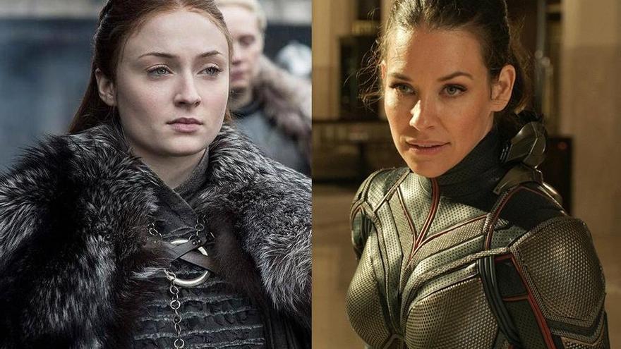 'Guerra' de actrices: el coronavirus enfrenta a Sophie Turner y Evangeline Lilly