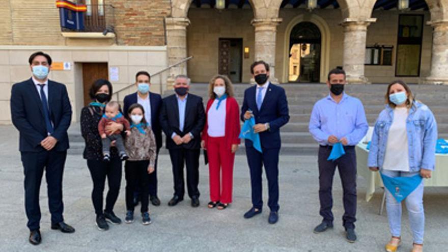 Más de 150 bebés reciben su primera pañoleta de San Mateo