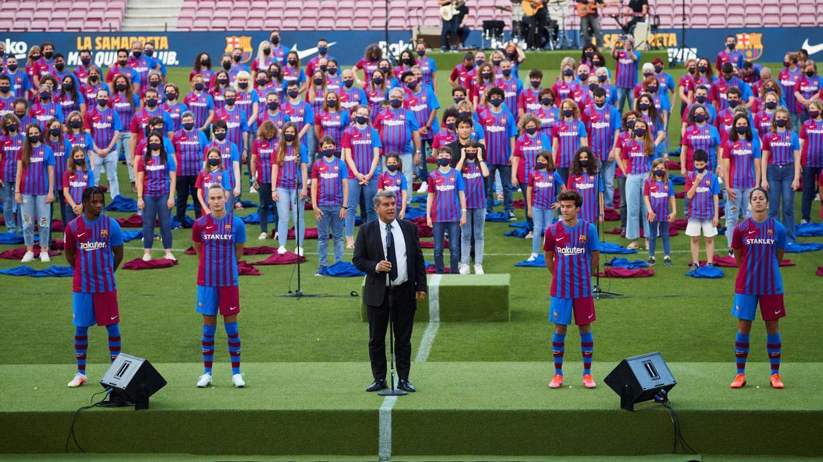 Presentació de la nova equipació del Barça