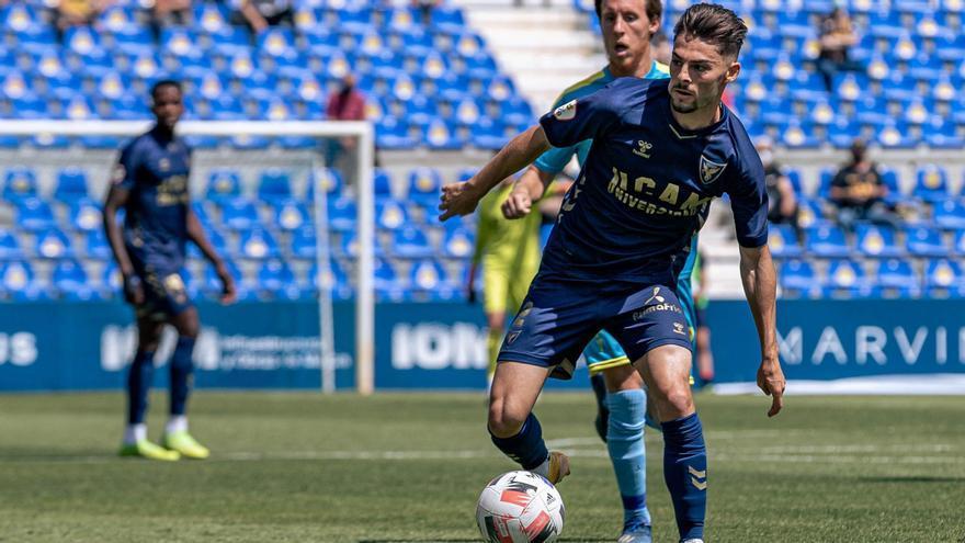 Liberto, en el último partido de la segunda fase contra el Algeciras