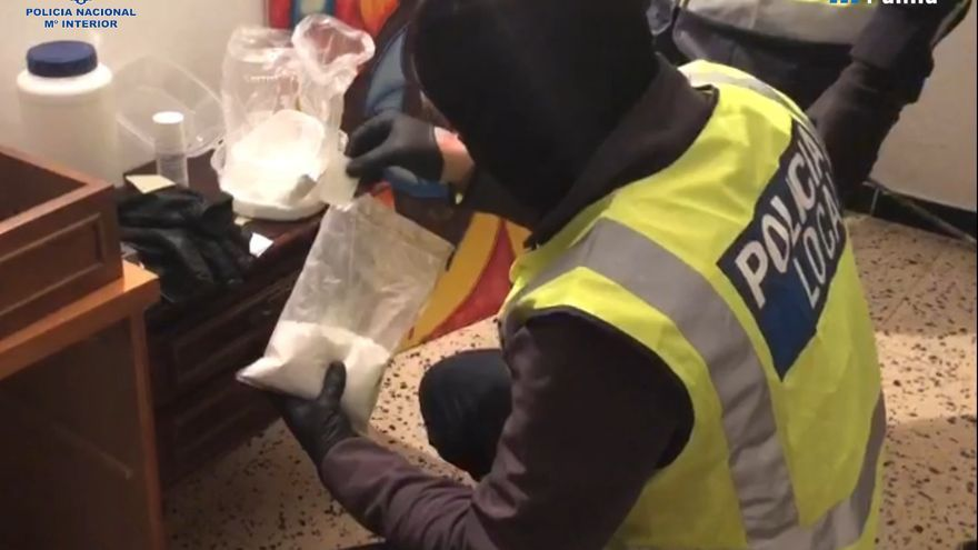 La Policía Nacional desmantela un laboratorio de cocaína en s'Arenal