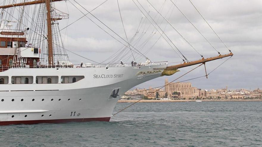 """Luxussegler """"Sea Cloud Spirit"""" zur Taufe vor Mallorca eingetroffen"""