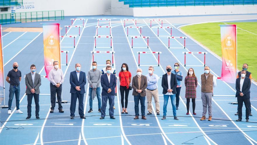 El estadio de atletismo de Vecindario abre tras una reforma de un millón de euros