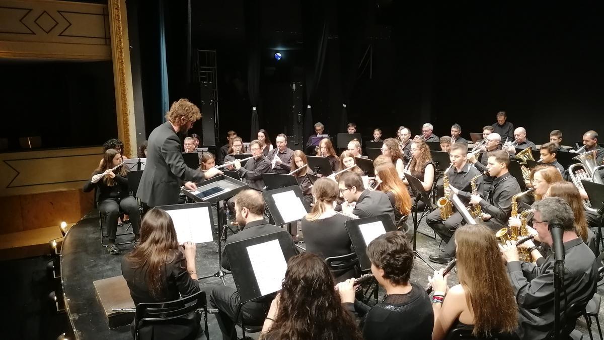 La Banda La Lira, en el concierto ofrecido el pasado año con motivo del Festival