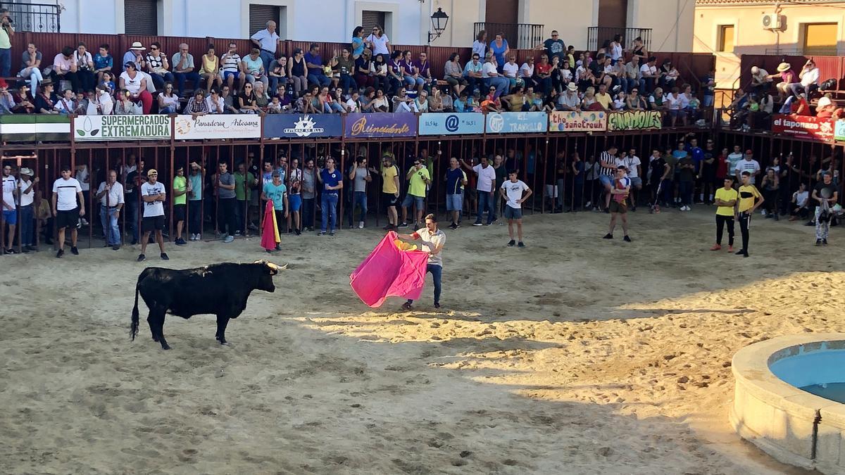 Un festejo taurino de las fiestas de Huertas de Ánimas.