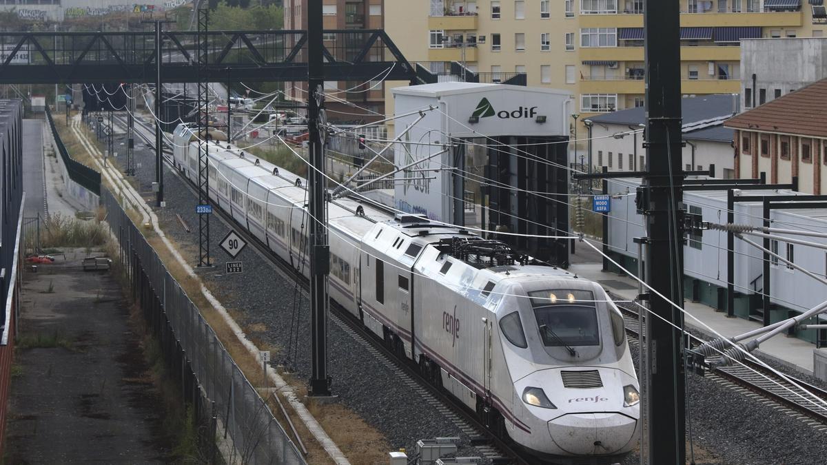 Tren en pruebas del tramo Zamora Pedralba