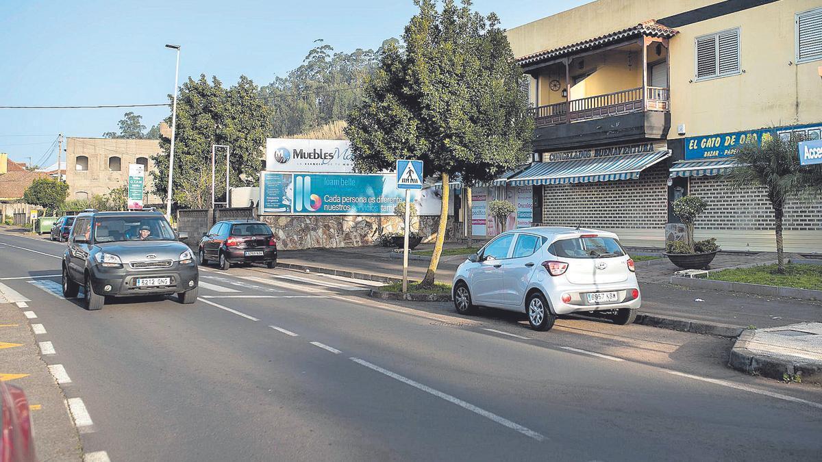 En esta zona del Barranco de Las Lajas, entre el Camino Real y la calle Los Sabandeños, se han producido los incidentes con un vecino conflictivo.