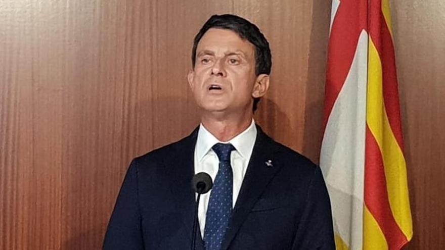 Valls càrrega contra Cs per «irresponsable» i pels pactes indirectes amb Vox