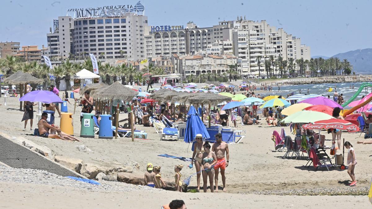 Una de las playas de Castellón durante este verano