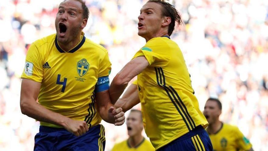 Suecia se impone por 1-0 a Corea del Sur gracias al VAR