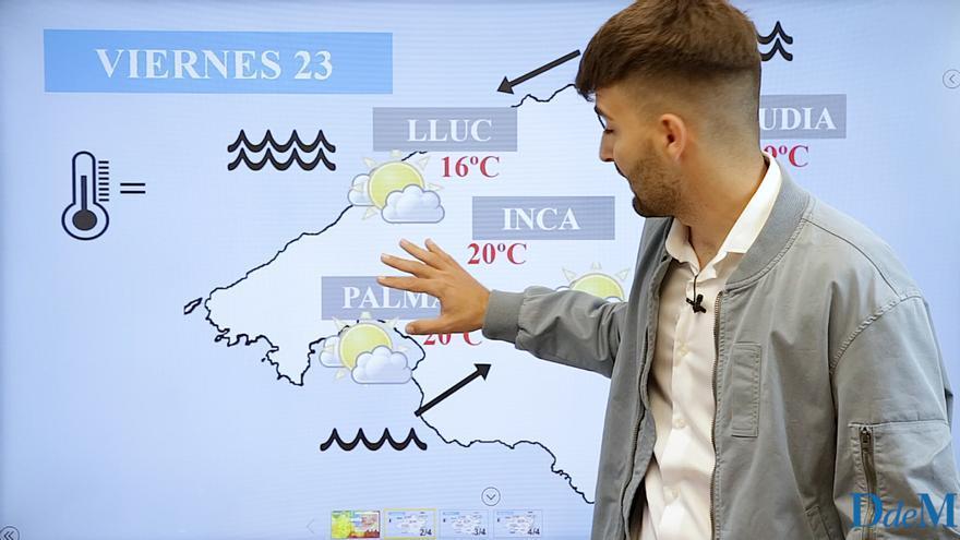 El tiempo del fin de semana en Mallorca: temperaturas en ascenso y polvo Sahariano