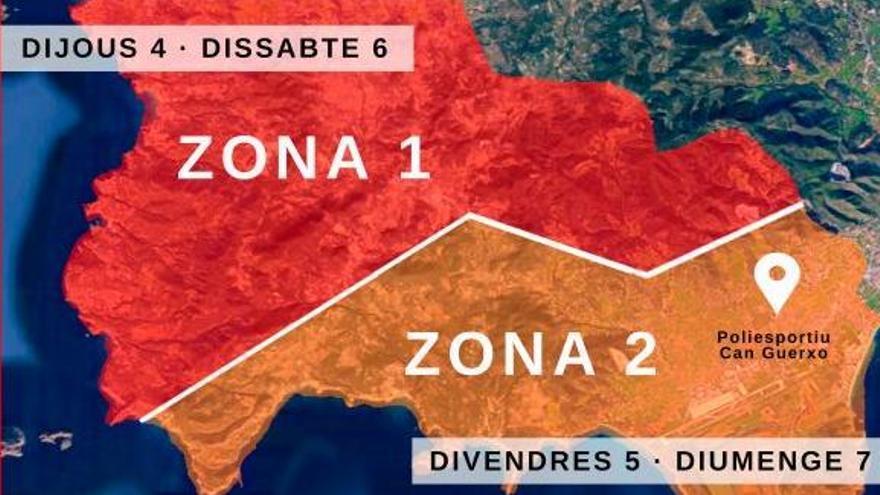 El cribratge massiu de Sant Josep es realitzarà del 4 al 7 de febrer al poliesportiu de Can Guerxo