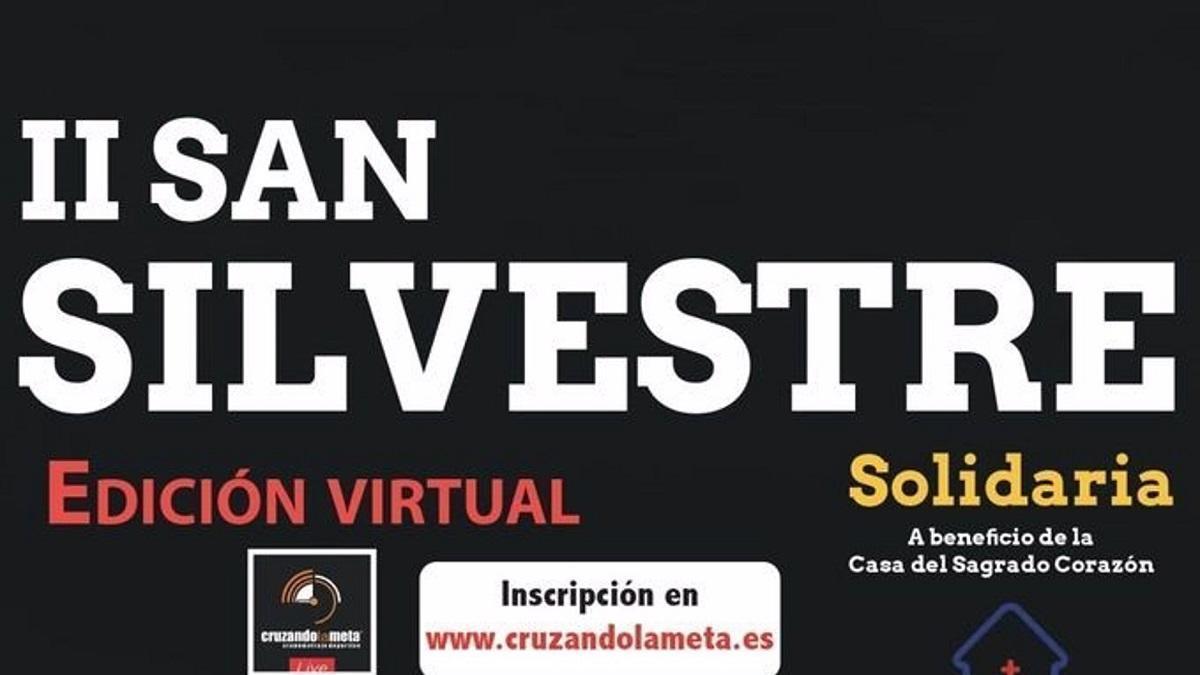Cartel de la II San Silvestre Solidaria del Real Club Mediterráneo de Málaga.