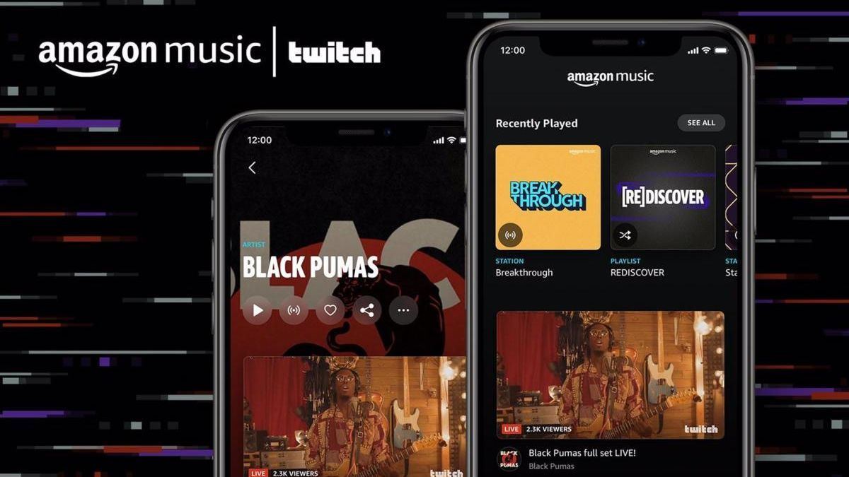 Amazon Music incorpora vídeos en 'streaming' de los artistas en Twitch.