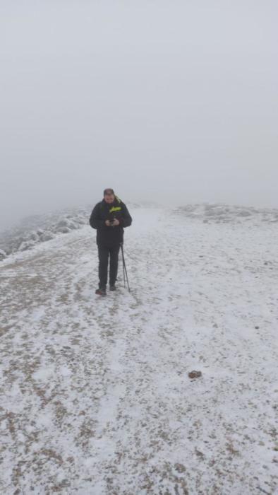 La Sierra de las Nieves se tiñe de blanco