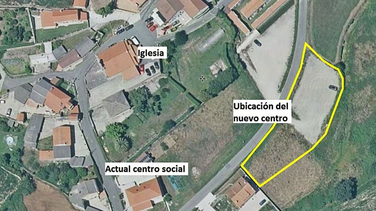 Ubicación del nuevo centro social de Monteagudo.     // LA OPINIÓN