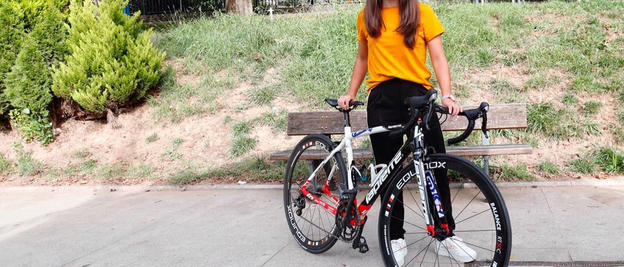 La ciclista Paula Sanmartín