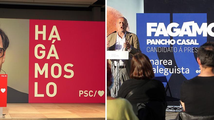 Todo pasó antes en Galicia: Illa usa un lema de las últimas elecciones gallegas
