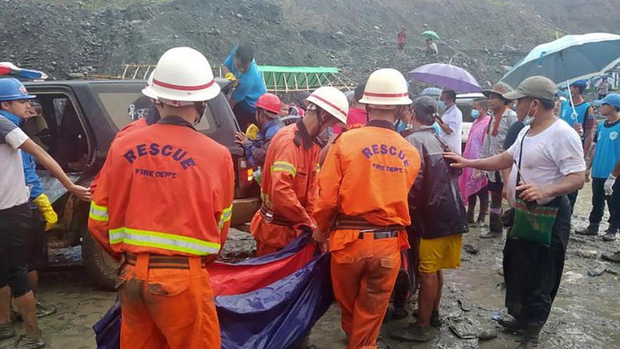 Accidente en una mina de jade en Birmania