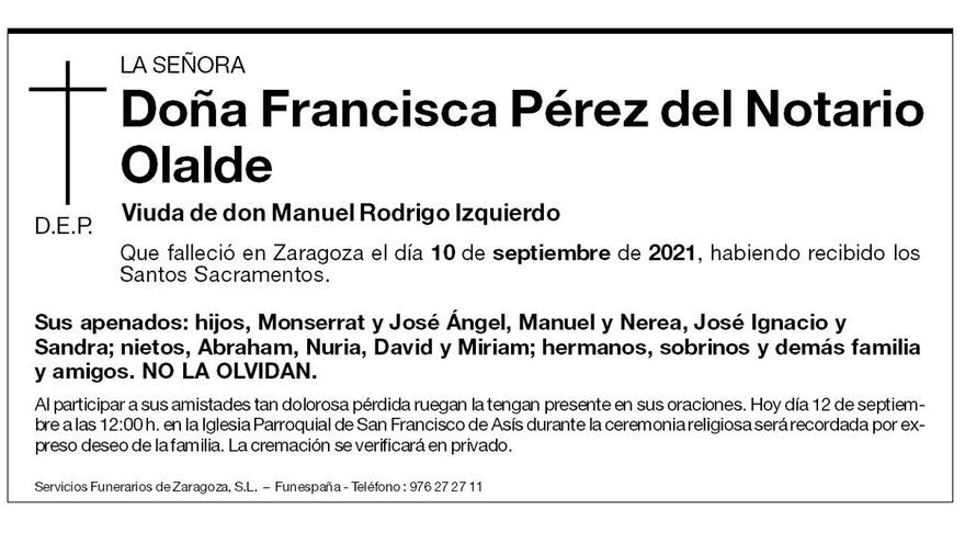 Francisca Pérez del Notario Olalde