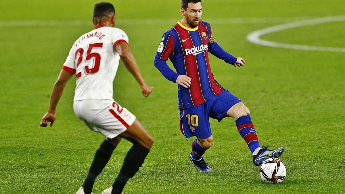 Messi va tenir a les seves botes el gol diverses vegades, però sense encert
