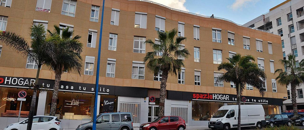 Fachada del edificio Auditorium, en la calle Pavía número 30, en el barrio de Guanarteme.