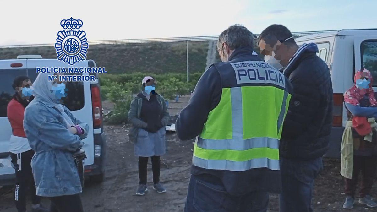 La Policía Nacional detiene al encargado y al capataz de una finca agrícola en Jumilla.