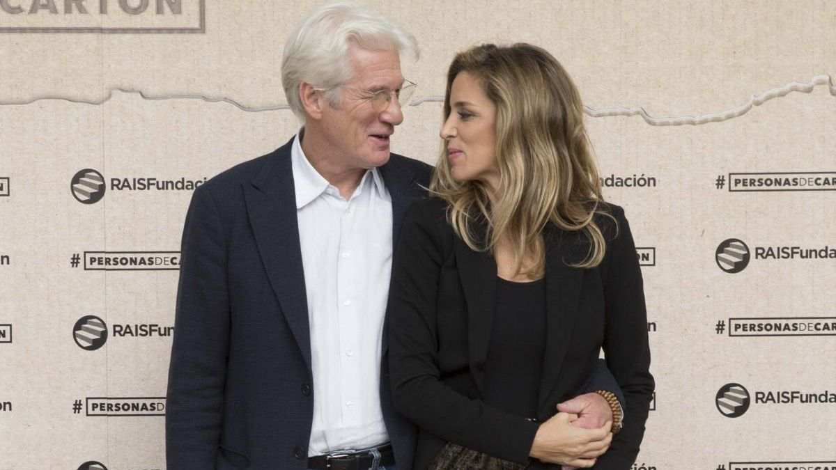 Richard Gere y Alejandra Silva.