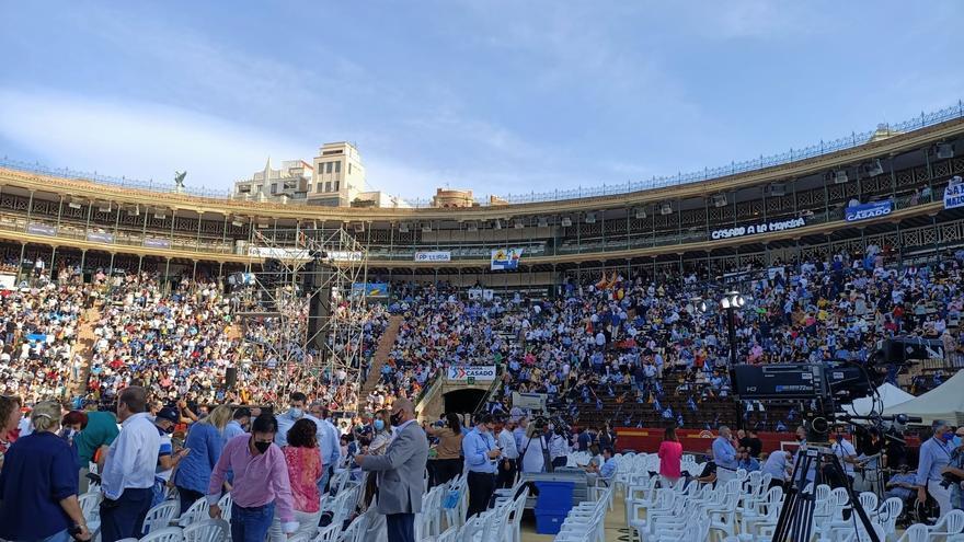 Directo | Sigue el cierre del congreso nacional del PP en la Plaza de toros de Valencia