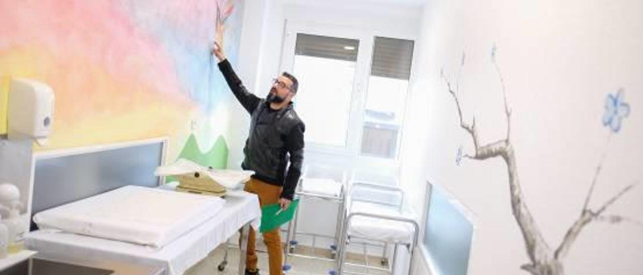 El proyecto pretende humanizar la planta de obstetricia con itinerario de naturaleza decorativa.