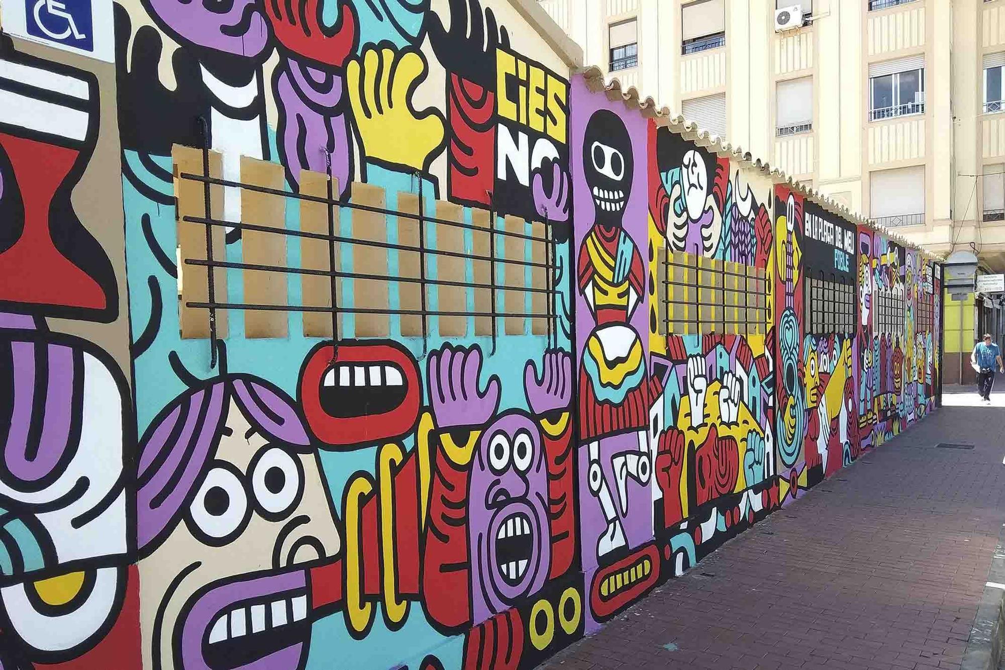 """La ruta """"Més Que Murs"""" del arte urbano en Sagunt."""