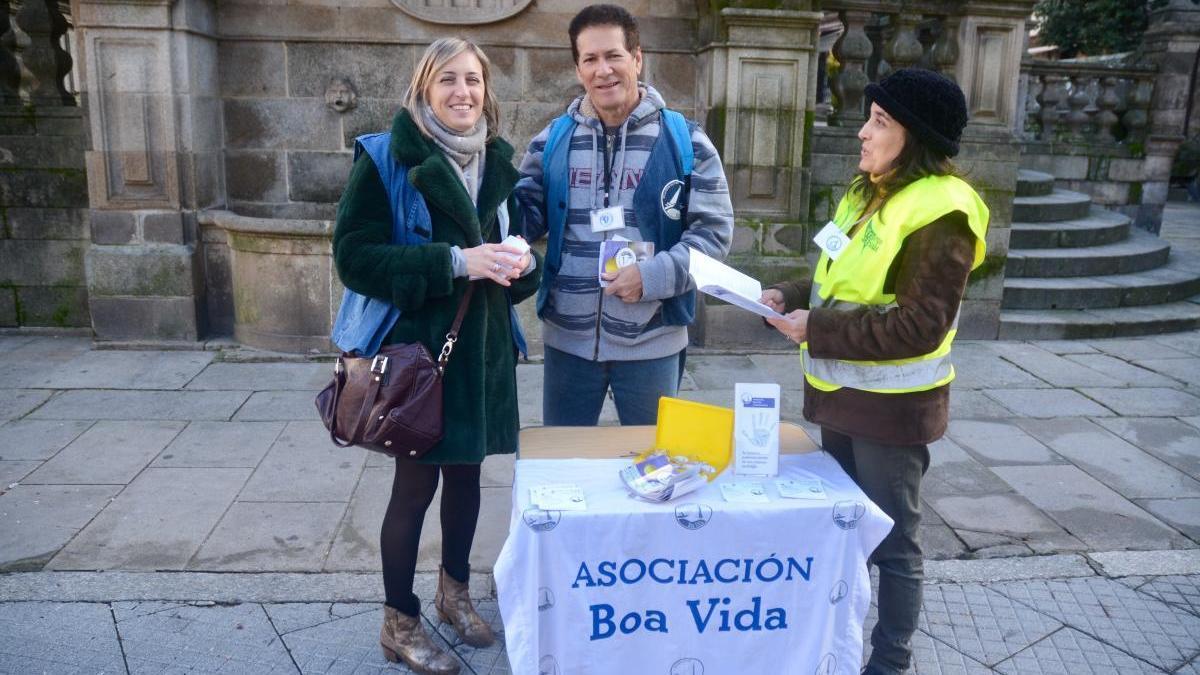 Acción divulgativa de Boa Vida las pasadas Navidades. // Rafa Vázquez