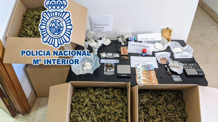 Siete detenidos en Dénia por traficar con droga en dos viviendas