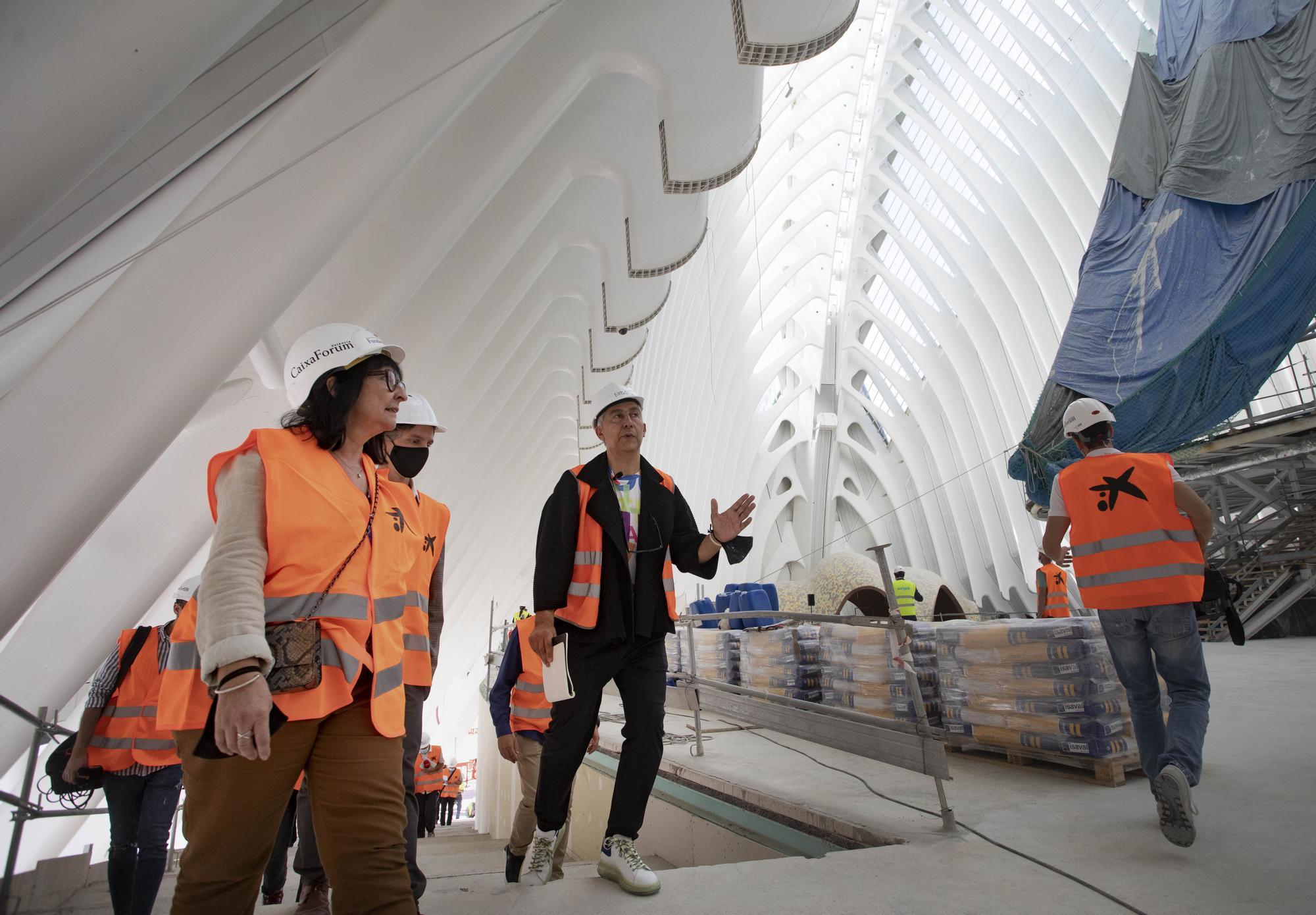 Así avanzan las obras del CaixaForum en el Ágora de Calatrava