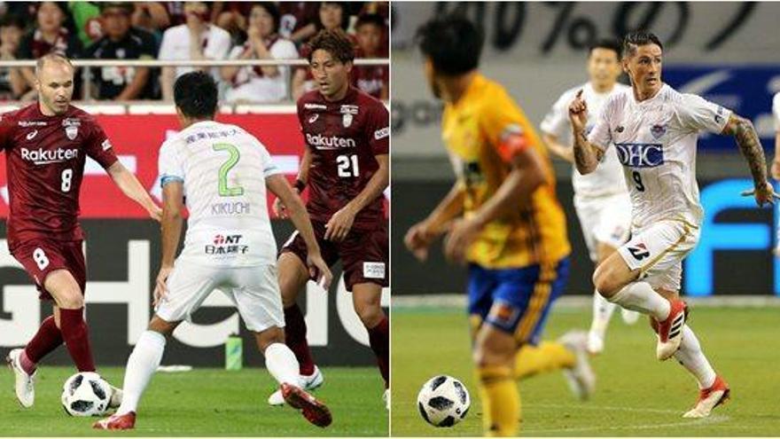 Iniesta y Torres debutan con derrota en el fútbol japonés