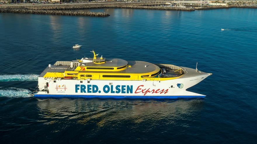 Fred. Olsen despide al Bonanza Express, el primer fast ferry de Canarias
