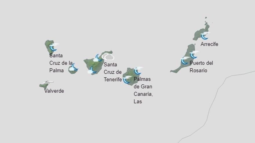 Los intervalos de nubes altas predominarán este miércoles en Canarias