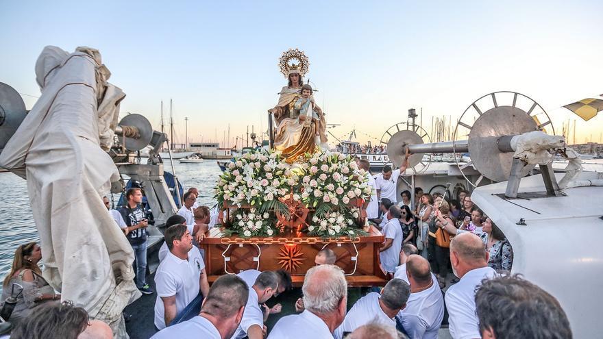 Torrevieja celebrará la Virgen del Carmen sin cucaña ni procesión pero con ofrenda de flores y pirotecnia