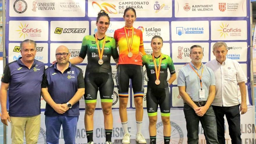 Sandra Alonso, campeona de España de Persecución