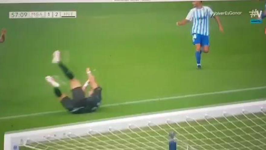 La expulsión de David Lombán ante el Huesca, recurrida por el Málaga CF