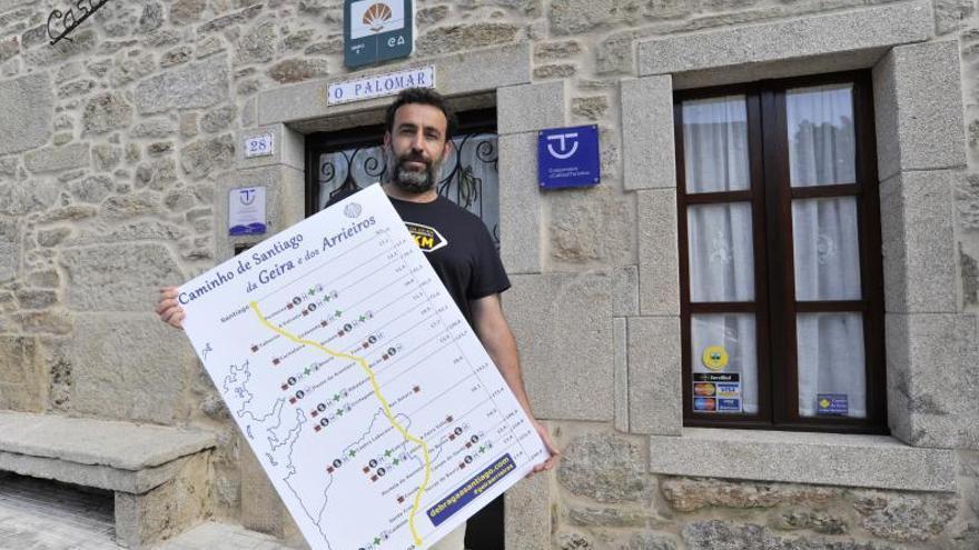 Parada y posta hacia Compostela