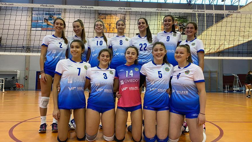 La jornada de los equipos femeninos de voleibol de Asturias: El Grupo se acerca a la salvación tras superar al Rivas
